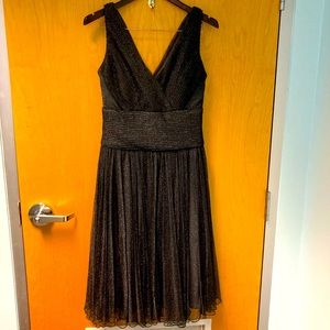 COLDWATER CREEK Sparkly Party Event Wedding Cross Bodice High Waist Dres Sz 14